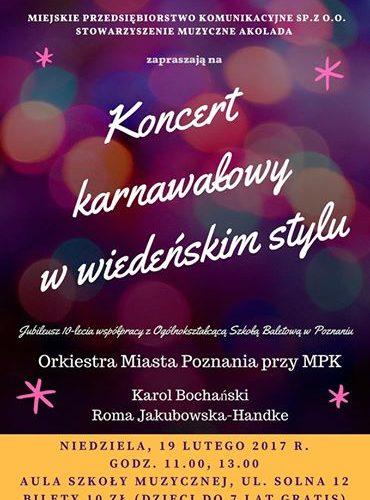 koncert karnawałowy 2017 plakat
